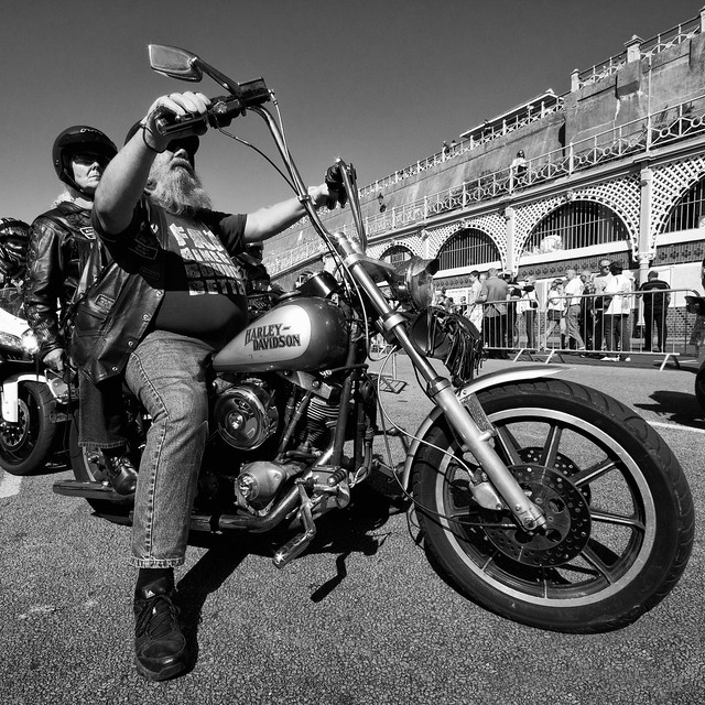 Ace Cafe Run harley couple | Flickr - Photo Sharing!