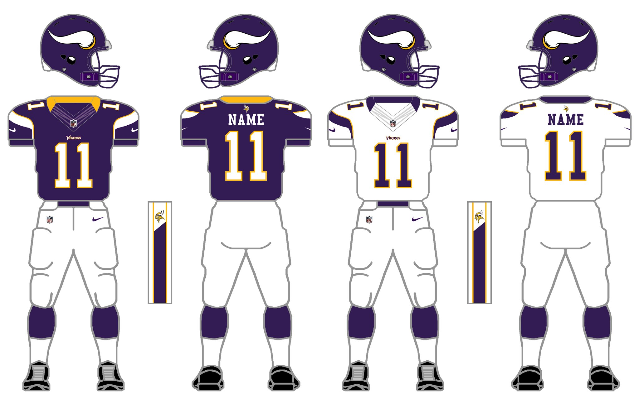 f6ab3319f79 ... Vikings currently have the worst uniforms in the NFL. The ugly side  panels, the weird burple color, the once every blue moon burple pants… it's  a mess.