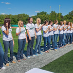 sp-12-0044 -- The 2010-11 womens national champion basketball team received their championship rings at half time from Athletic Director, Dennie Bridges.