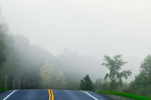 road morning yellow fog vermont cross unitedstates pavement horizon hill roadtrip double unknown underhill vt doubleyellow greenmountains foggymorning doubleyellowline pavedroad emptyroad doubleline