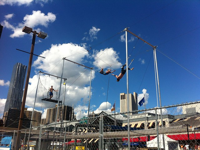 South Street Seaport: Trapeze School