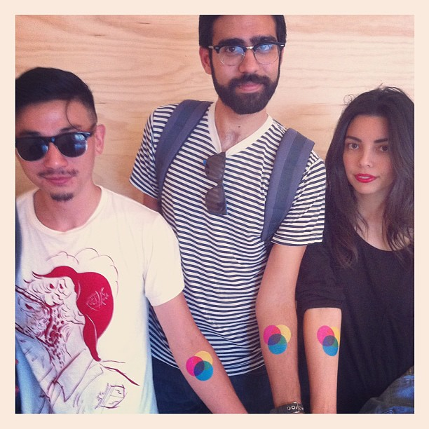 So killer, friends of #poketo rocking @tattly @swissmiss thanks! @chimek @sun_karkhang
