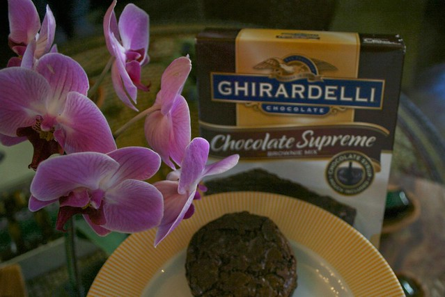 . @Olive_That 's Ghiradelli Blood Orange Brownies