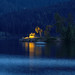 Blue Hour at the Lake and in the City Schluchsee, Germany