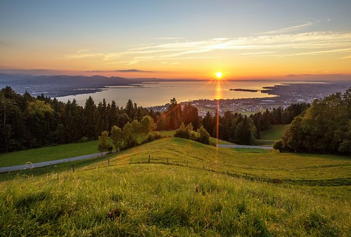 Sunset , lake of constance, September 2012