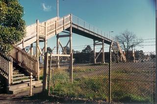 Fitzroy Yard footbridge 24-7-1990