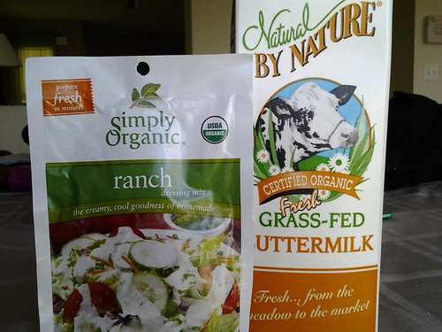 Organic ranch dressing mix and grassfed buttermilk