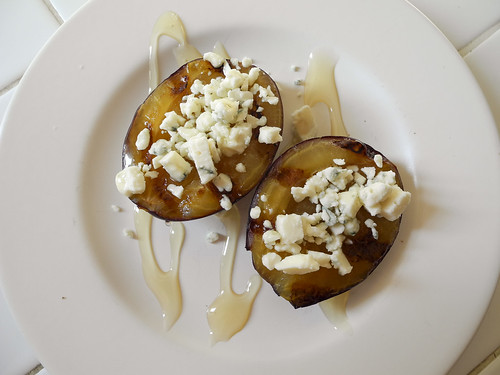 Plums with Blue Cheese & Honey