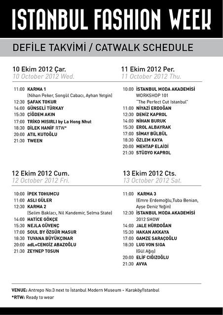 istanbul fashion week takvimi, ifw, istanbul fashion week