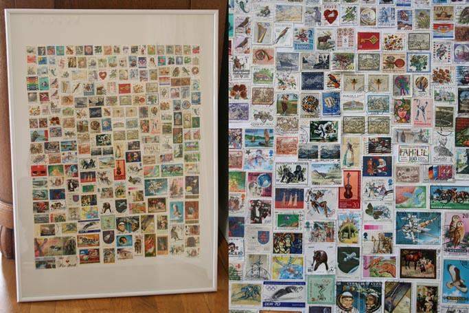Briefmarkencollage I