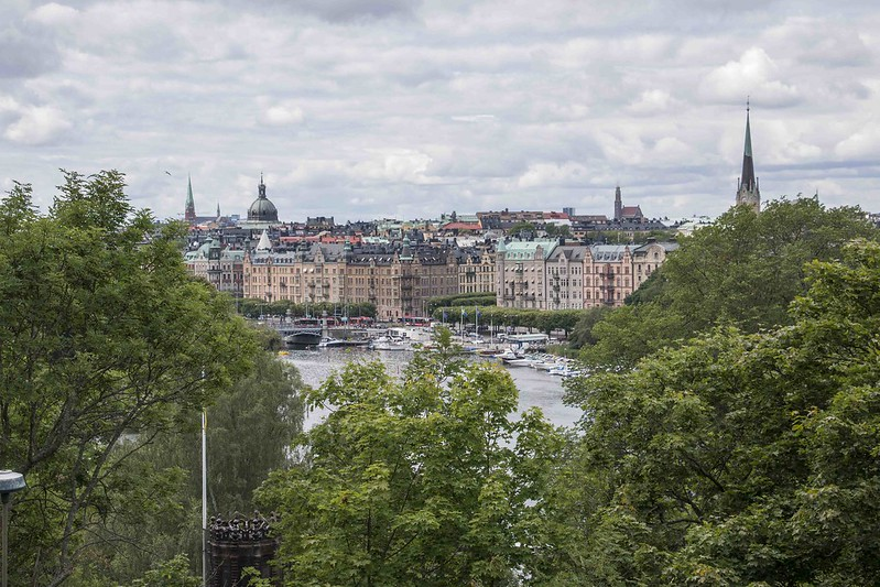 view on Stockholm from Skansen Museum
