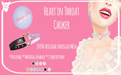 Kitty's Claws: Heart in Throat Choker