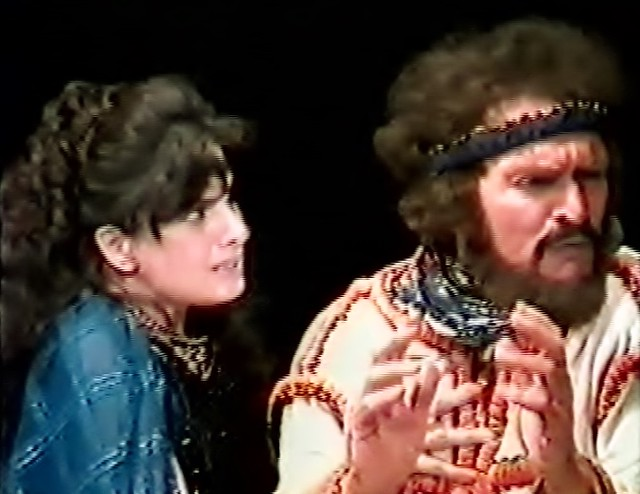 Shakespeare classic theatre international tour Ashley March and Alexander Barnett in Macbeth