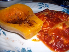 Butternut Squash And Baked Ravioli.