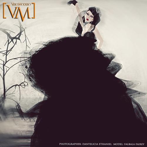 [VM] VERO MODERO FAIREY SIYAHI DRESS