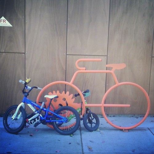 the orange bike rack gets much less love