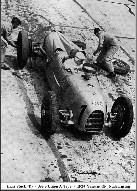 1934 Auto Union Typ A Hans Stuck at German Grand Prix