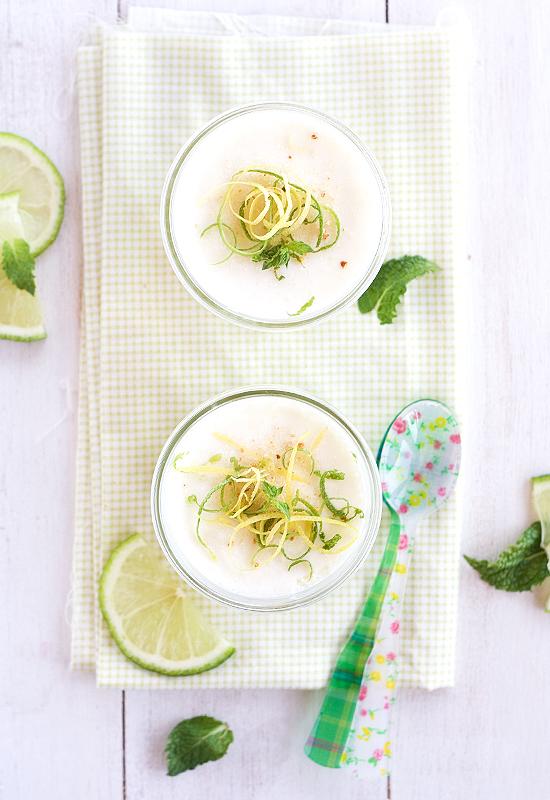 Receta de mousse de lima limón