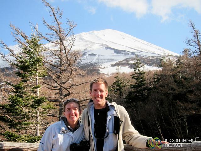 Dan and Audrey at Mount Fuji, Japan