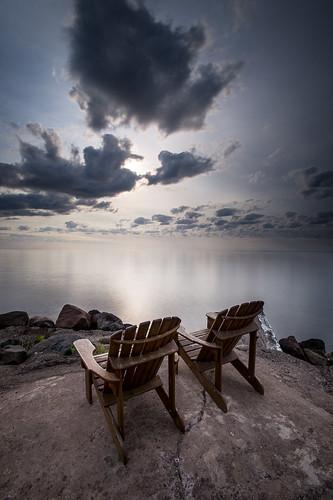 sky beach clouds nikon rocks chairs lakesuperior d4