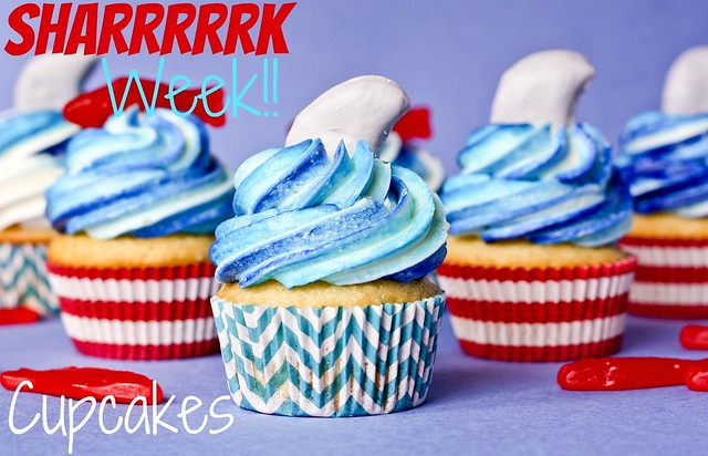 Shark Week Cupcakes   Confessions of a Cookbook Queen