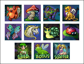 free Super Lucky Frog slot game symbols