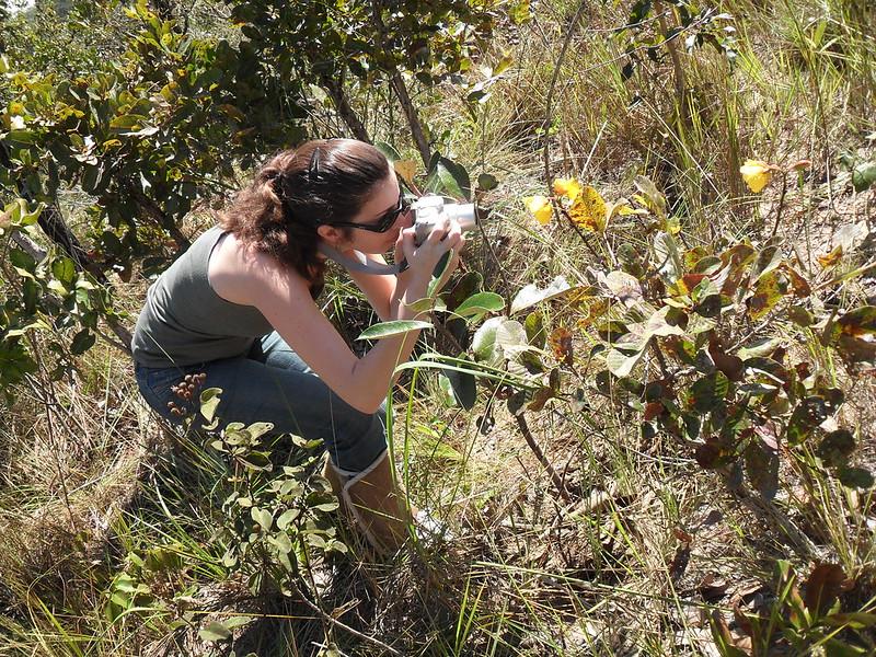 Jaci Coninham and Wild Flowers in Chapada dos Guimaraes, Brazil