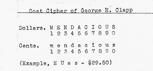 George Clapp cost code