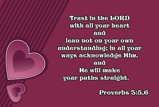 Proverbs 3 verses 5 and 6 ☺