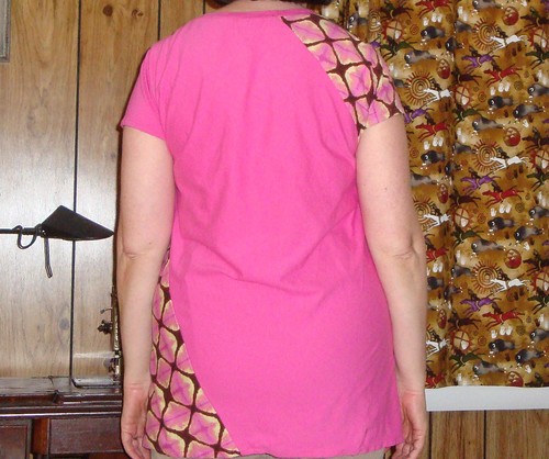Pink Knit Tunic Back