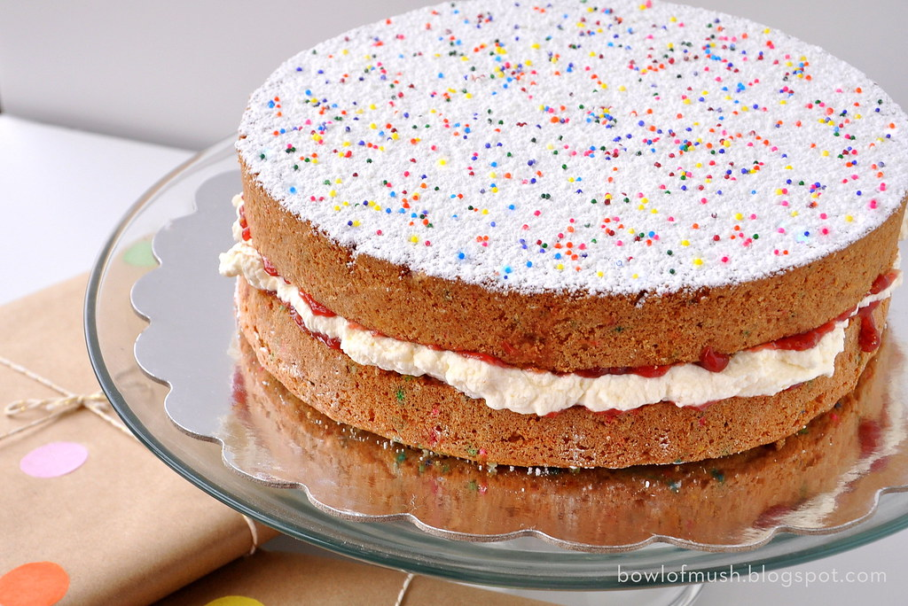 A Bowl Of Mush Victoria Sponge Birthday Cake