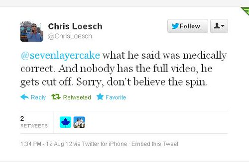 Chris Loesch Akin tweet