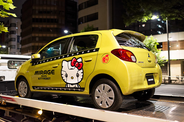 Hello Kitty Car in Shibuya