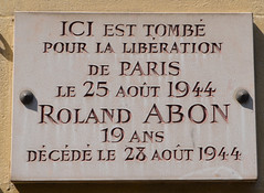 Photo of Roland Abon white plaque