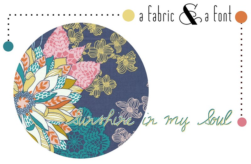 SA Fabric & A Font Party Decor Inspiration: Sunshine in my Soul + Josephine Kimberling Hope Chest Floral Blue