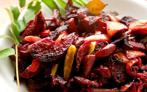 Beetroot stir fry by {deepapraveen very busy with work..back soon