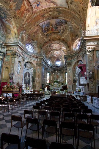The Interior of Casella Church in Italy