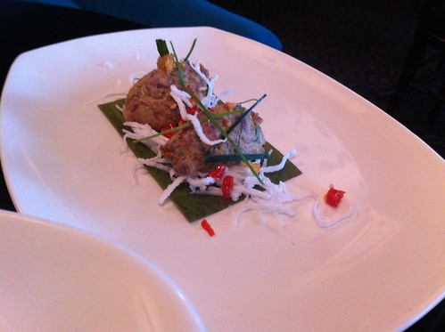 Red curry tartare, young coconut, peanut crumble