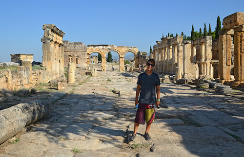 Eric in the street of Hierapolis
