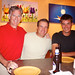 Ted, Brent and Camron at Josie's Pizza by brent flanders