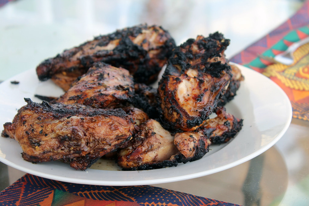 Jamaican Jerk Chicken & Plantain-Stuffed Dumplings | the moveable ...