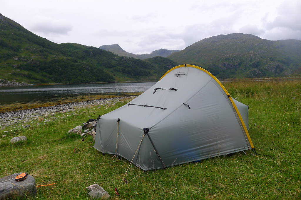 Camped besides Loch Hourn