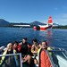 August 24-25  Shiro and friends visit   - Fink's pic. On Sproat Lake with Mars Water Bomber.