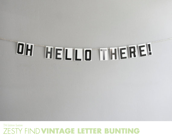 {zesty find} vintage letter bunting from oh albatross