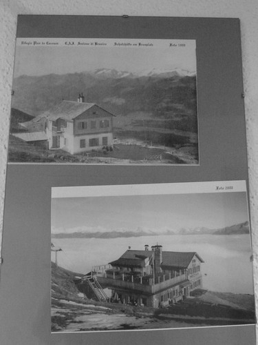 The hütte before and after the renovation