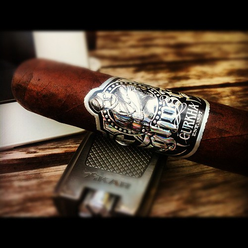 Smoking a Ghost by @GurkhaCigars