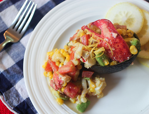 Lobster Salad with Avocado, Corn and Tomatoes #SundaySupper