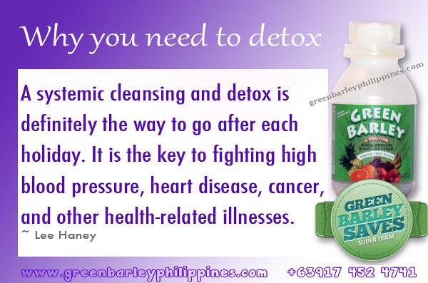 detox with green barley