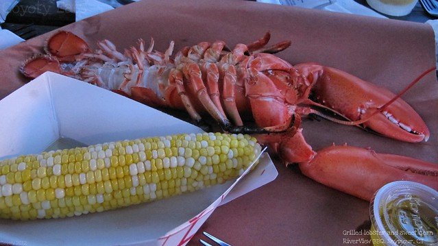 Grilled lobster and sweet corn