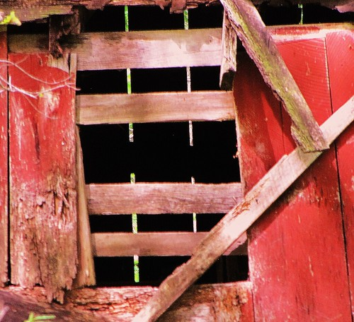 Old barn window by CharlesRay2010